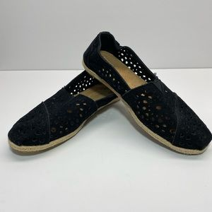 Toms classic 301213 suede w7.5 shoes flats womens
